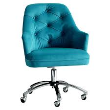 Aqua Fuzzy Desk Chair Startling Tufted For Home Design Peacock Velvet Cheap