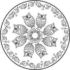 Mandala Enfant 25 Idees Originales A Emprunter Et Imprimer OwlsMandala Coloring PagesThe