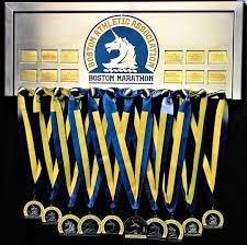 Boston Marathon Medal Display Frame Custom Engraving Capabilities