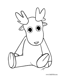 Cute Dasher Reindeer Coloring Page Color Online Print