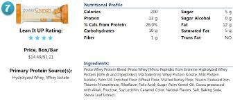 Power Crunch Protein Bar Nutrition And Ingredients