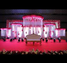 Ceremony Stage Decoration Vmp Natural Flowers Reception Sets And Sangeet Flower In Wedding