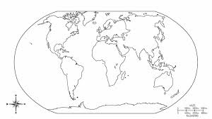 Pages Printable World Map Coloring Page Earth And