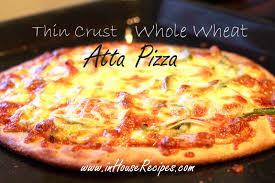 Thin Crust Whole Wheat Atta Pizza Recipe
