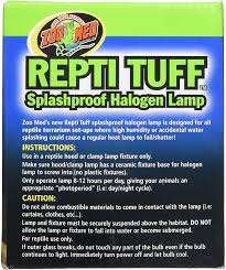 Flukers Turtle Clamp Lamp by Zoo Med Repti Tuff Halogen Lamp 75 Watt Chewy Com