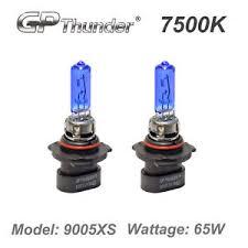 gp thunder ii 7500k xenon halogen light bulb white 9005xs