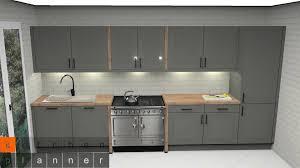küchenplanung klassische zweizeilige küche mit standherd