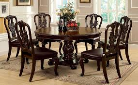 Master Round Dining Room Table Sets Furniture Of America Cm3319rt W Sc Set Bellagio