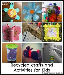How To Make Handicrafts From Recycled Materials Beautiful Craft Projects For Kids