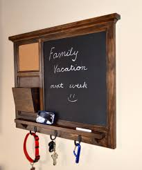 Decorative Key Holder For Wall by Mesmerizing Chalkboard Key Holder Design That Created With Three