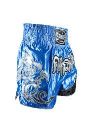 sandee unbreakable royal blue silver navy muay thai kick boxing shorts