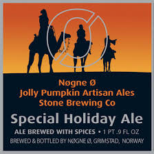 Jolly Pumpkin Brewery by Nøgne ø Jolly Pumpkin Stone Special Holiday Ale Shelton Brothers