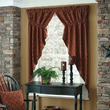 Country Swag Curtains For Living Room by Prairie Gathered Swag Curtains Country Style Curtains
