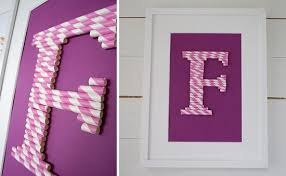 Monogram From Paper Straws