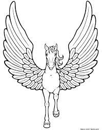 Pegasus Coloring Pages Page Minimalist Fee Printable Galaxy Barbie Pony Beyblade