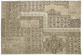casa padrino luxus baumwoll teppich beige verschiedene größen rechteckiger wohnzimmer teppich mit relief struktur und verwaschenem used look
