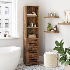vasagle badkommode bbk160x01 badezimmerschrank hochschrank 3 offene fächer 2 verstellbare einlegeböden vintage kaufen otto