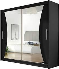 schiebetürenschrank v mit spiegel kleiderschrank schwebetürenschrank modernes schlafzimmerschrank 180x215x57cm garderobe schlafzimmer