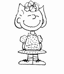 Peanuts Christmas Coloring Page