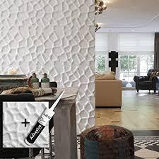 wandpaneel 3d gaps für wanddeko kleber 3d platten i 12 dekorative paneele 3 m i wandverkleidung wallart dekoration wand wohnzimmer schlafzimmer i