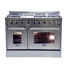 Hallman 48 inch Stainless Steel Professional Convection Gas Range
