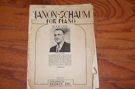 Vintage 1946 Hanon Schaum Piano Music Book
