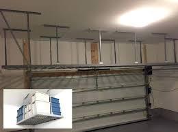 Hyloft Ceiling Storage Uk by Building Garage Overhead Storage Shelves Slide1jpg Unistrut