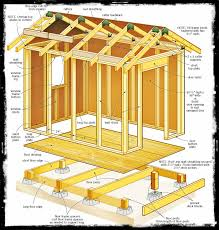 8 x 16 shed plans free workshop pinterest woodworking cabin