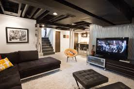 Unfinished Basement Ceiling Paint Ideas by Sensational Design What Color To Paint Basement Ceiling Ideas With
