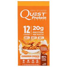 Quest Nutrition Protein Powder Cinnamon Crunch 12 Pouches 106 Oz 30