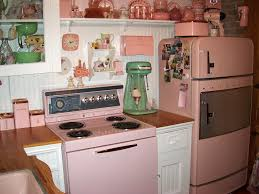 This Little Kitchen Is Decorated With Some Retro Appliances As Well The Color