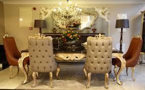 casa padrino luxus barock esszimmerstuhl set grau braun gold 6 küchen stühle im barockstil barock esszimmer möbel