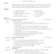 Sample Electrician Resume Combined With