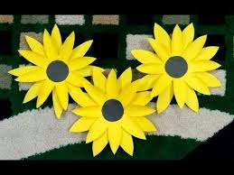 How To Make A Paper Flower Sunflower