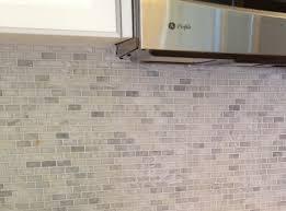 ceramictec white carrara mini brick marble mosaic back splash