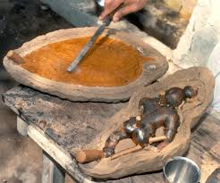 Ground Floor Casting Means by The Lost Wax Casting Of Icons Utensils Bells And Other Items In