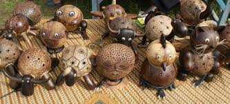 Coconut Shell That Has Passed Through The Final Process Can Be Transformed Into A Unique Crafts And Funny By Forming Cartoon Character Or
