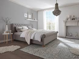bett 180x200 grau komforthöhe ehebett polsterbett