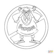 No To Bullying Troll Coloring Page