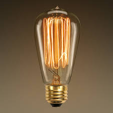 antique light bulb marconi filament 60 watt