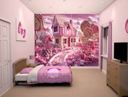 Prepasted Mural Wallpaper Pink Candy House Girls Bedroom