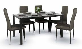 Trempe Dining Set Black A (1+6) Details About Set Of 5 Pcs Ding Table 4 Chairs Fniture Metal Glass Kitchen Room Breakfast 315 X 63 Rectangular Silver Indoor Outdoor 6 Stack By Flash Tarvola Black A 16 Liam 1 Tephra Alba Square Clear With Ashley 3025 60 Metalwood Hub Emsimply Bara 16m Walnut Signature Design By Besteneer With Magnificent And Ding Table Glass Overstock Alex Grey Counter Height