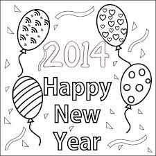 New YeAR Color Pages 2014