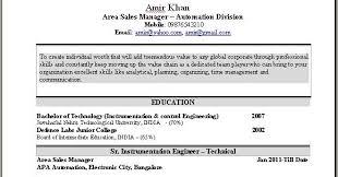 Resume For Sales Executive Job