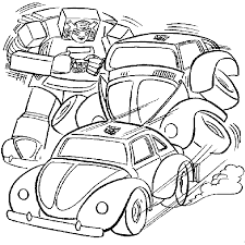 Transformers Coloring Pages Bumblebee Cartoon Bamboo