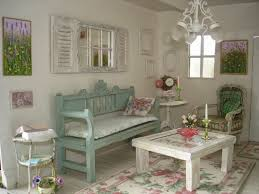 Vintage Shabby Chic Home Decor With Rustic Bench And Square Coffee Table Large Size