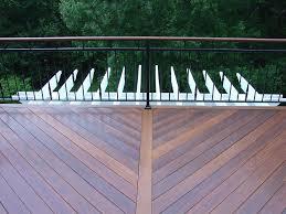 Horizontal Deck Railing Ideas by Deck Railing Horizontal Deck And Railing Made From Composite With