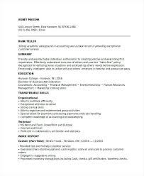 Resumes For Bank Jobs Entry Level Banking Job Resume Sample With Experience