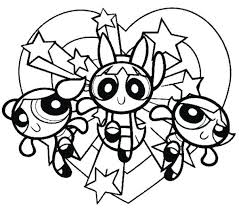 Full Image For Coloring Pages Online Free Printable Of Power Puff Girls
