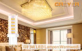 creyer g9 led len kein flackern 420 lumens 5w ersetzt
